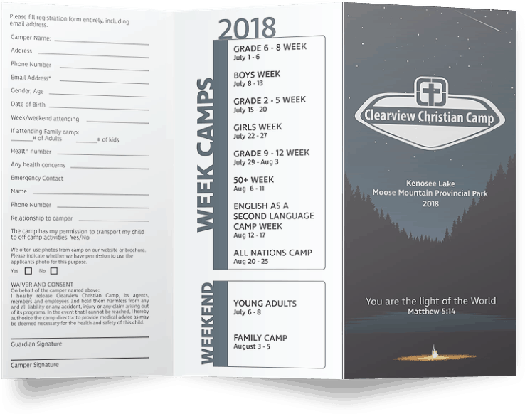 Clearview Christian Camp Brochure Exterior
