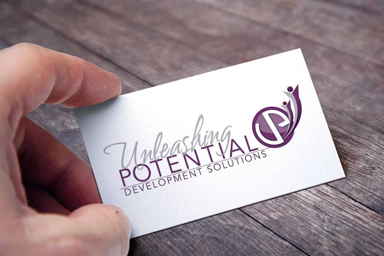 Unleashing Potential logo on a card